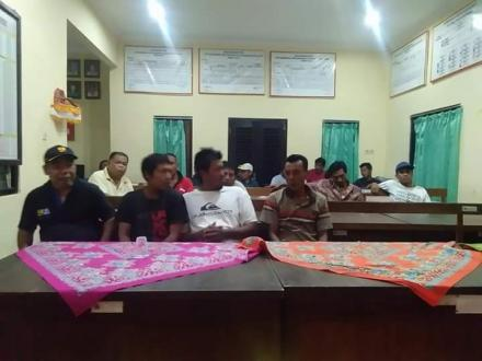 Rapat bersama Linmas Koordinasi Pengamanan Pilgub 2018